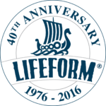 Lifeform® 40th Anniversary logo