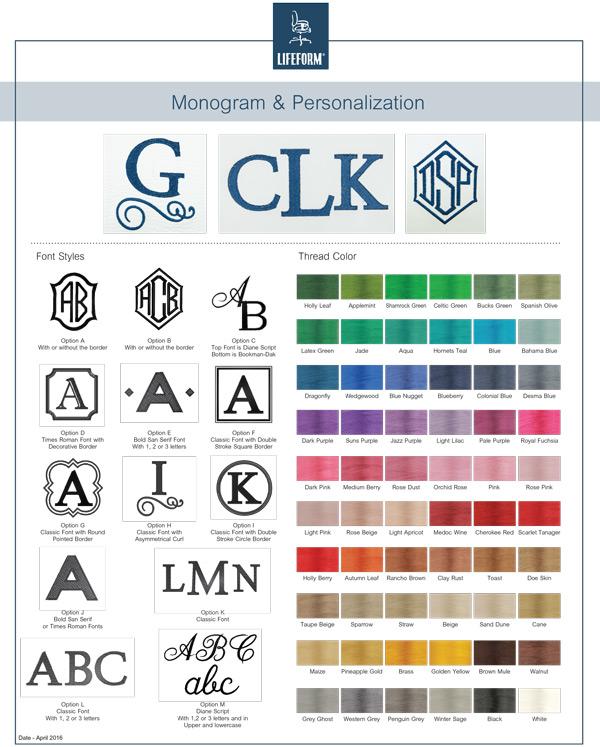 Lifeform Monogram Sheet